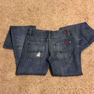 Size 27,  7 for all Mankind flare jeans